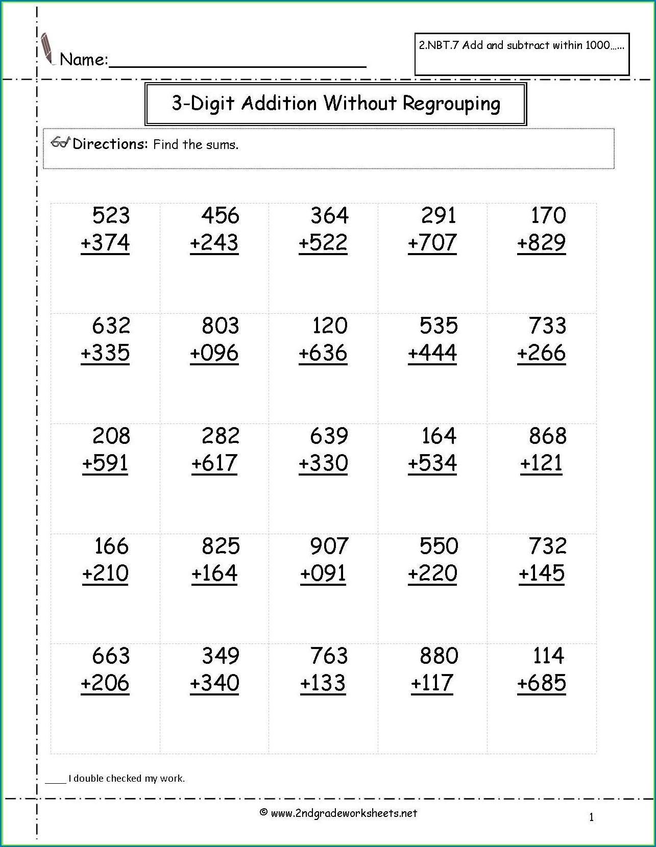Second Grade Math Fractions Worksheets