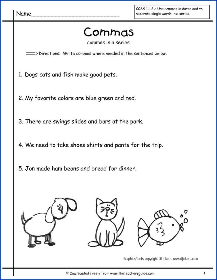 Second Grade Punctuation Worksheet Grade 2