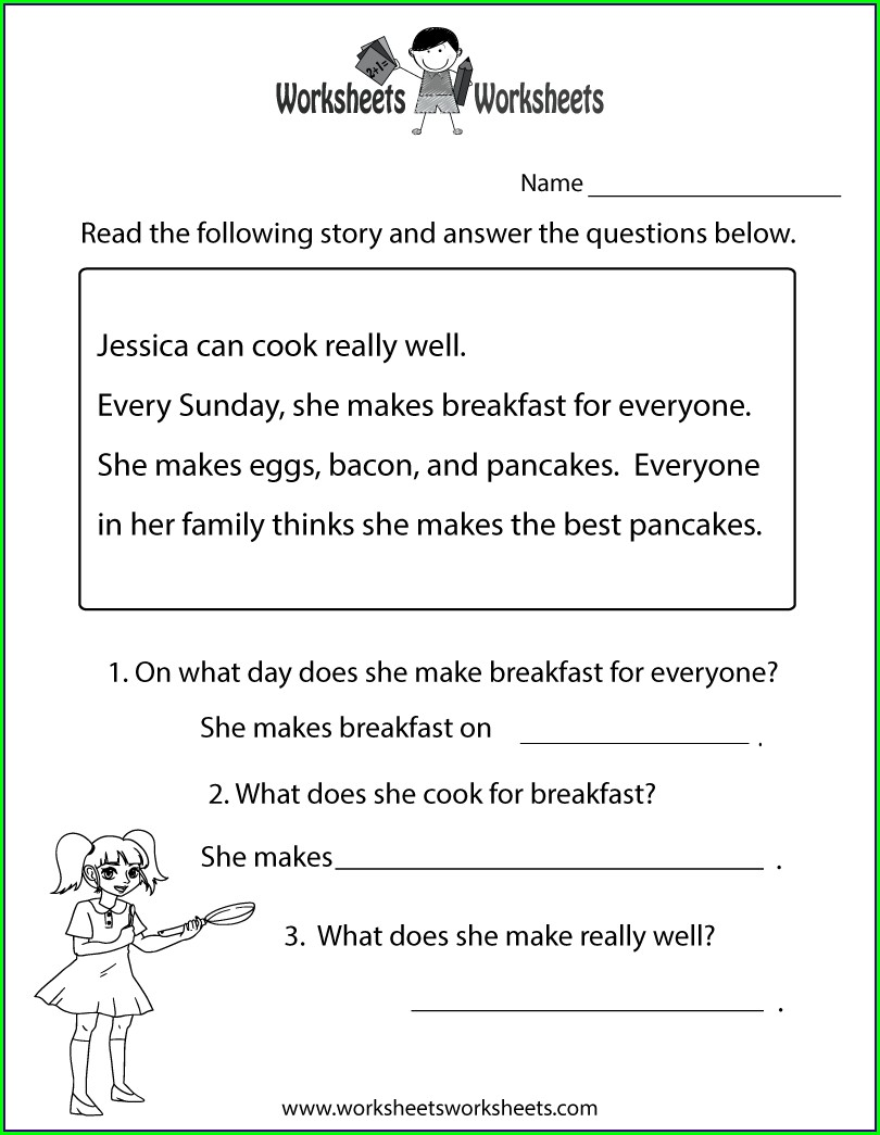 Second Grade Reading Worksheets Free