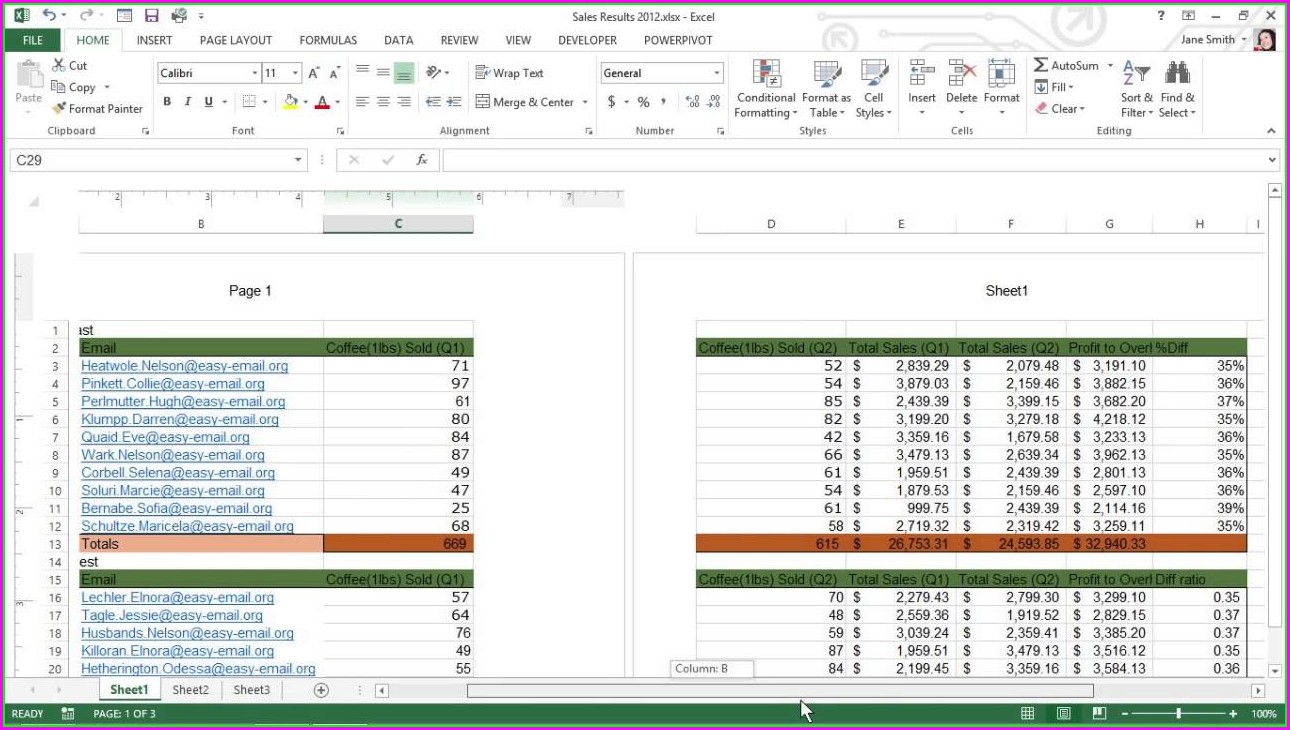 Sheet Name Header Element Excel