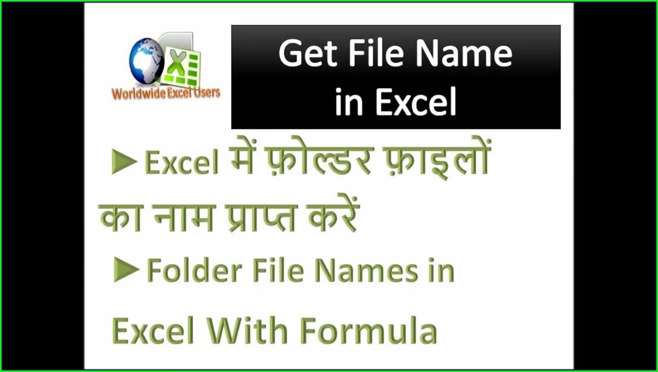 Sheet Name In Excel Formula