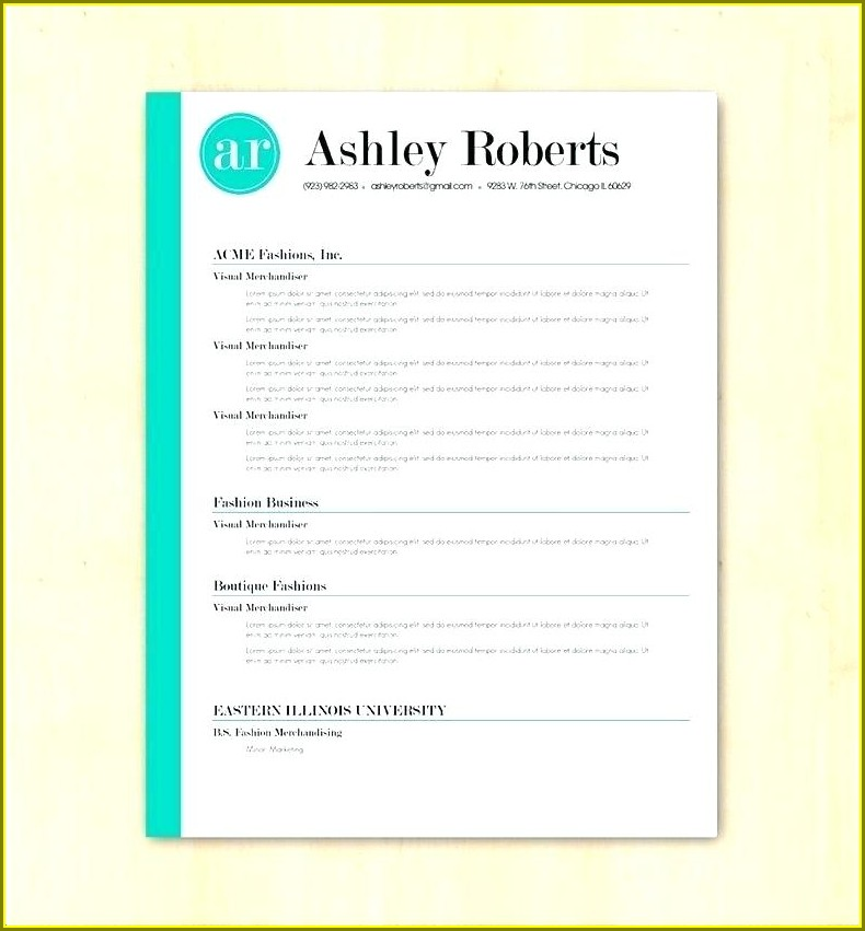 Simple Blank Resume Format For Freshers