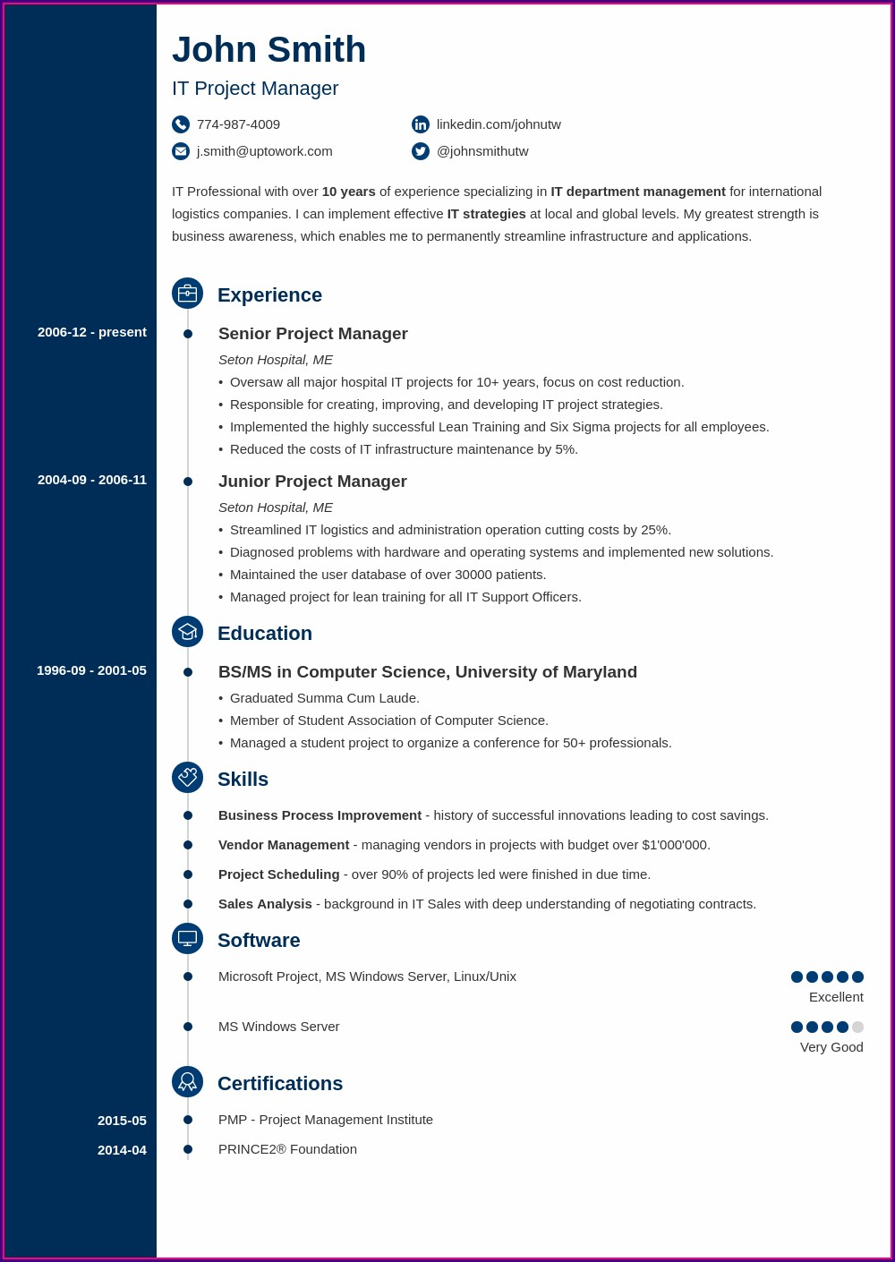 Simple Job Simple Professional Resume Format