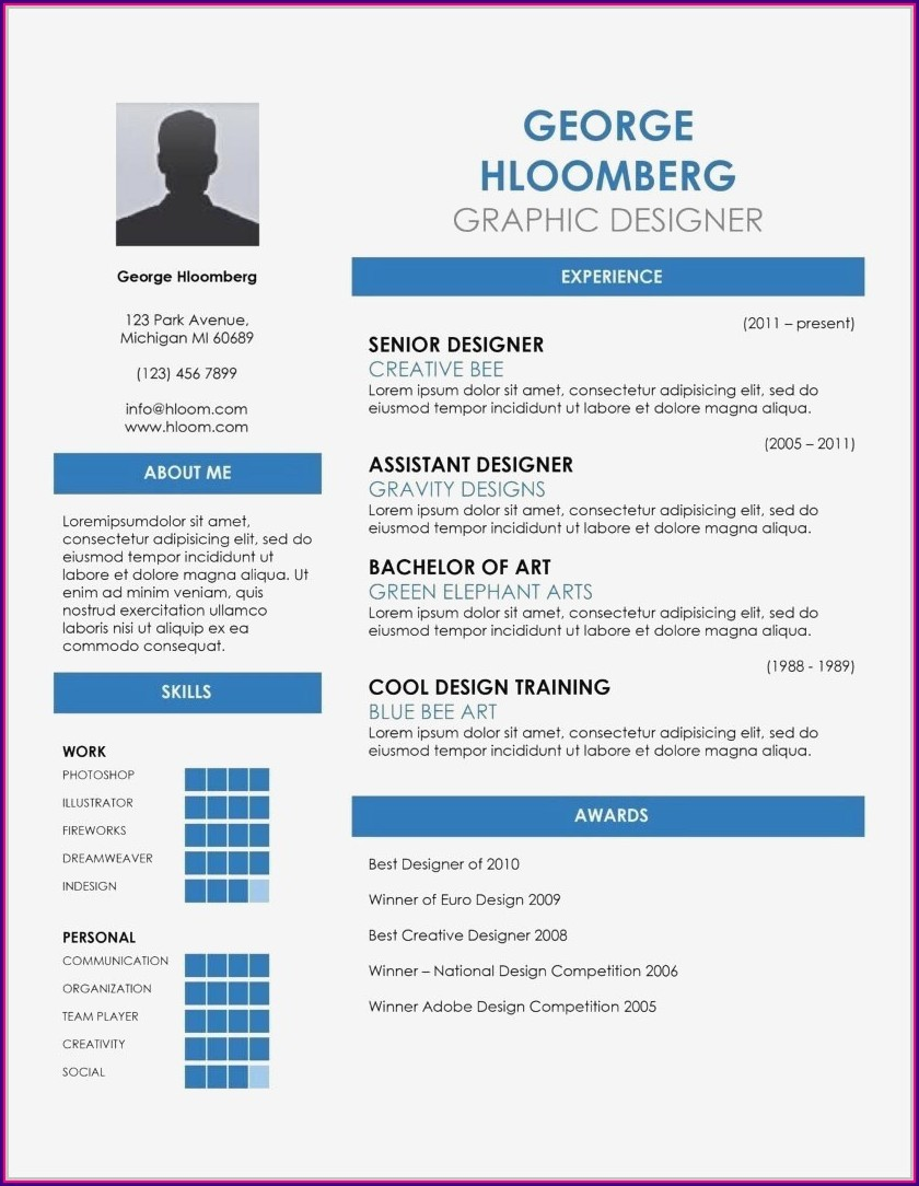 Simple Resume Format Docx File Download