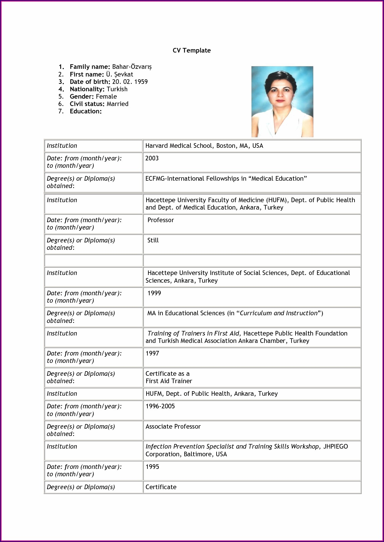 Simple Resume Format Download Pdf Free