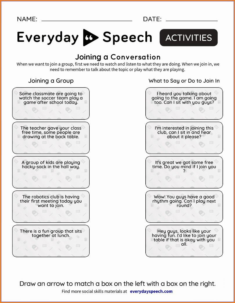 Social Skills Worksheets For Elementary School