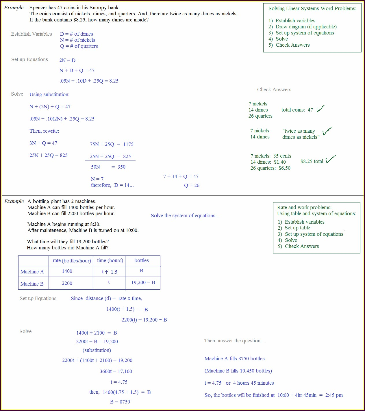 Solving Equations Word Problems Worksheet Doc