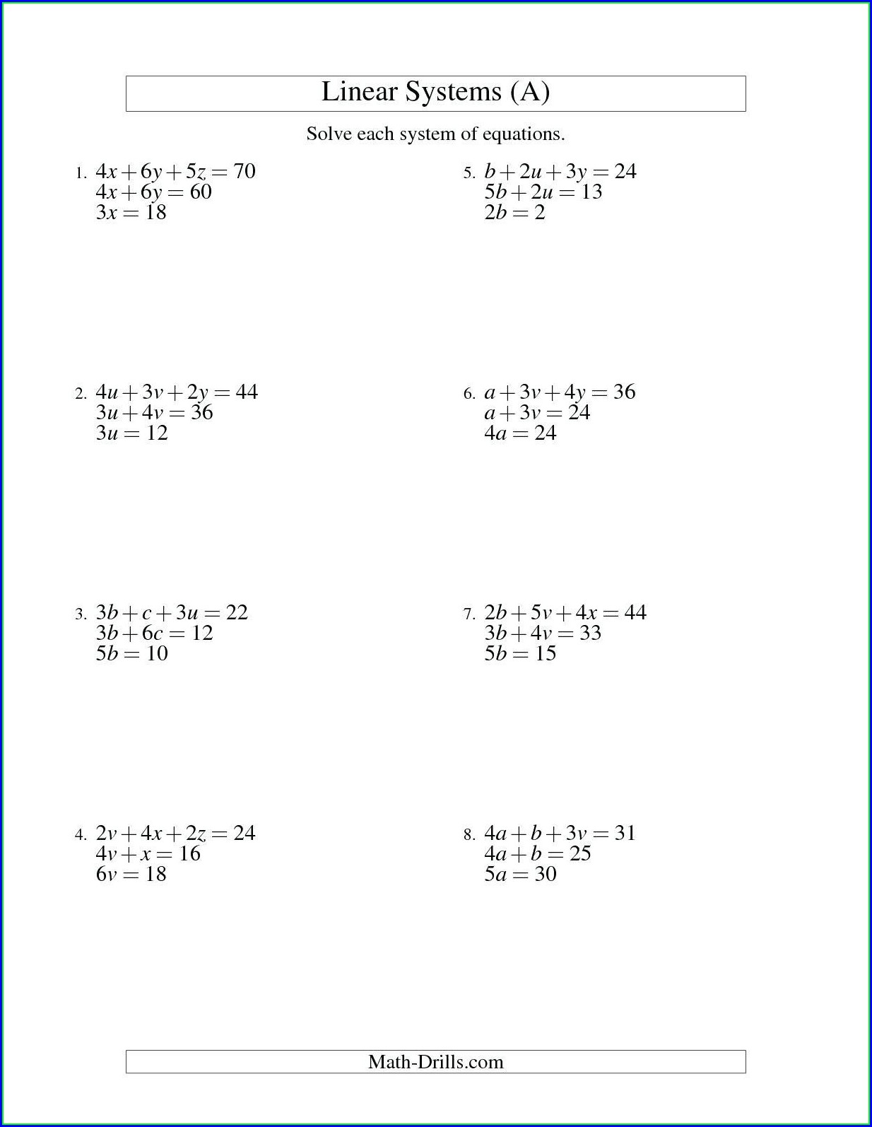 Solving Inequalities Worksheet And Graphing