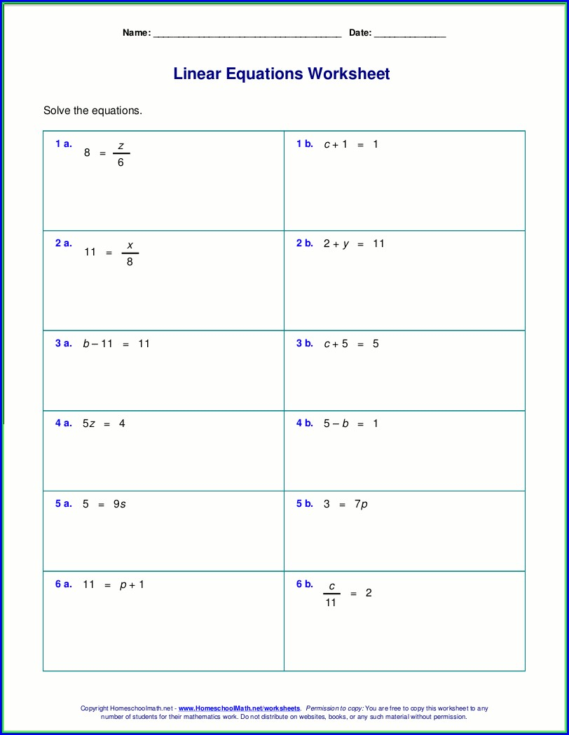 Solving Two Step Inequalities Worksheet Answer Key 7th Grade