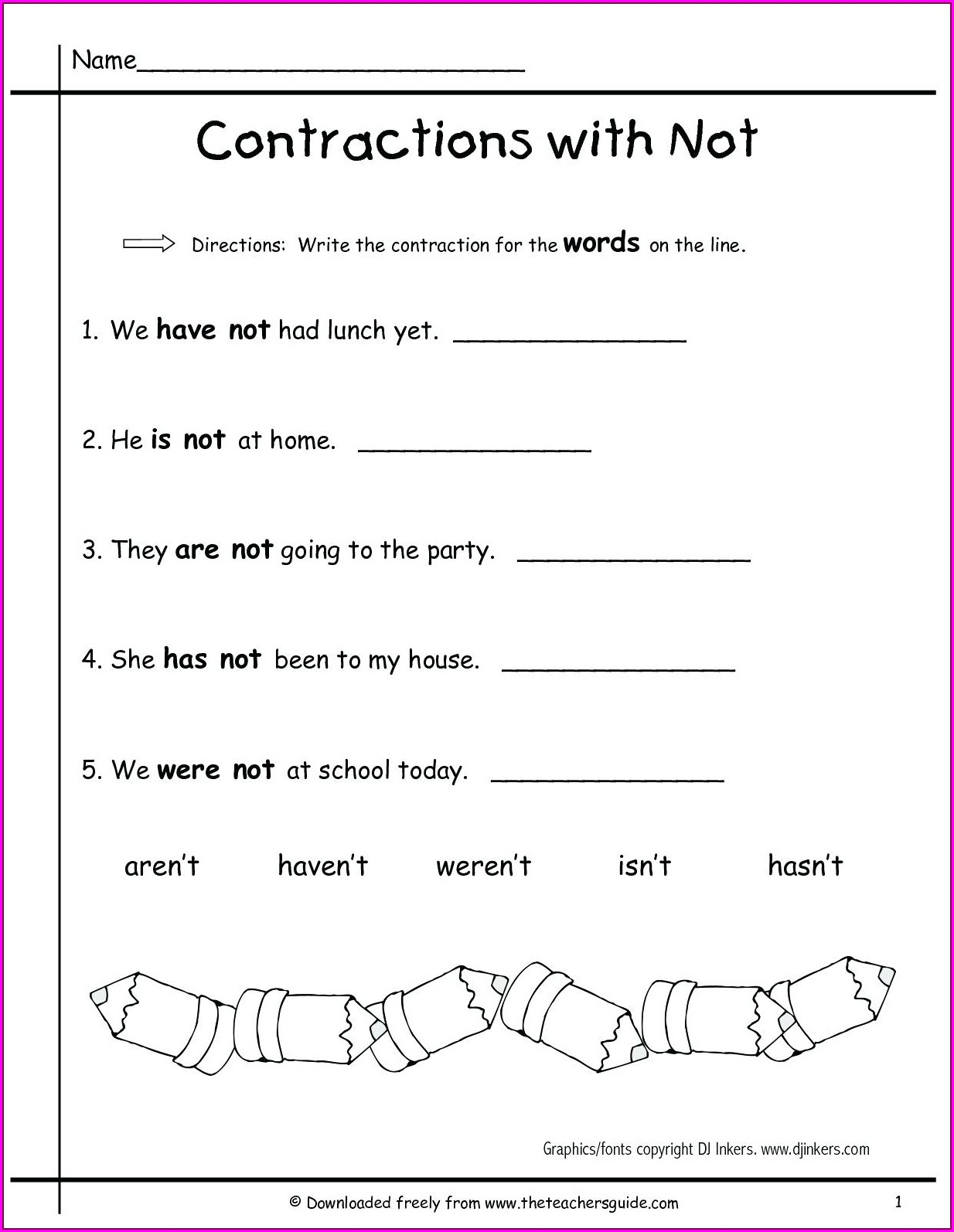 Spelling First Grade English Worksheets