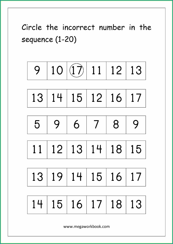 Spelling Numbers 1 To 20 Worksheet