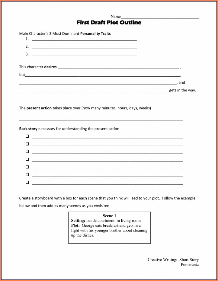 Story Writing Worksheet Pdf