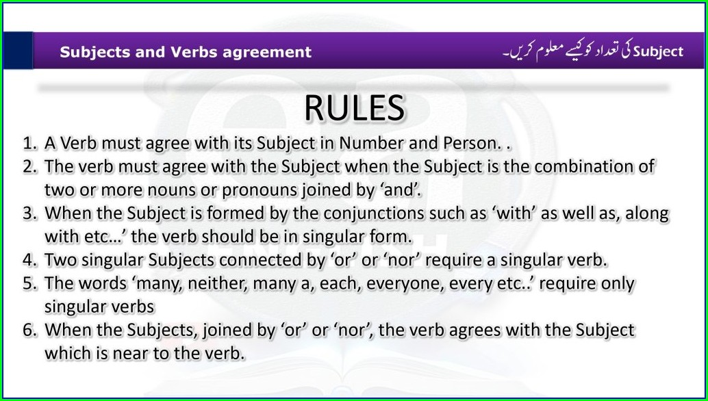 Subject Verb Agreement Paragraph Exercises With Answers