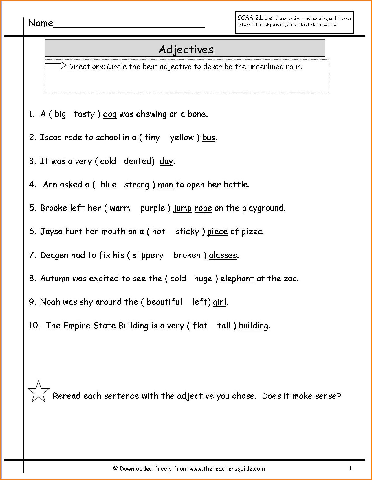 Subject Verb Agreement Worksheet 1st Grade Pdf