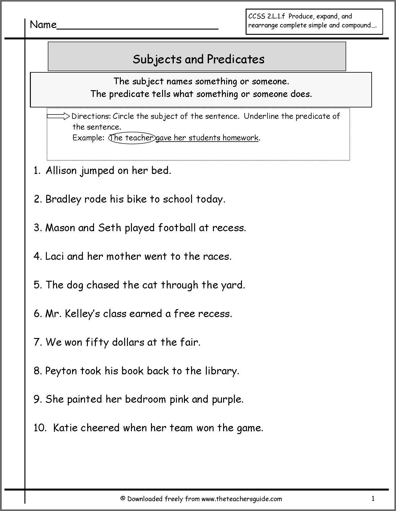 Subject Verb Agreement Worksheet For Grade 4