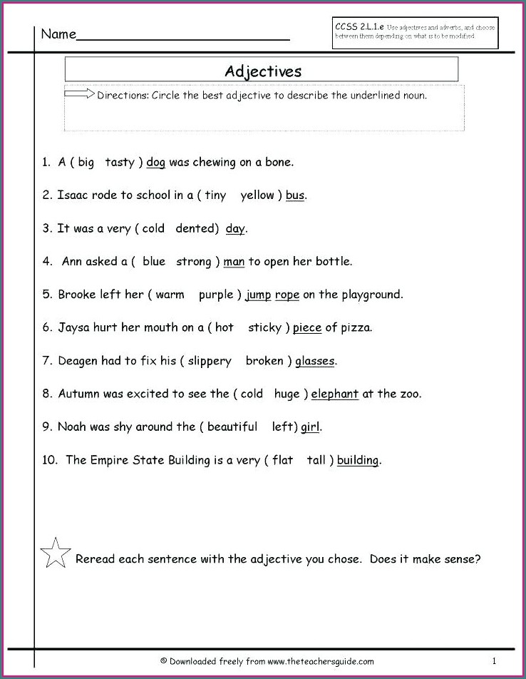 Subject Verb Agreement Worksheet For Grade 5