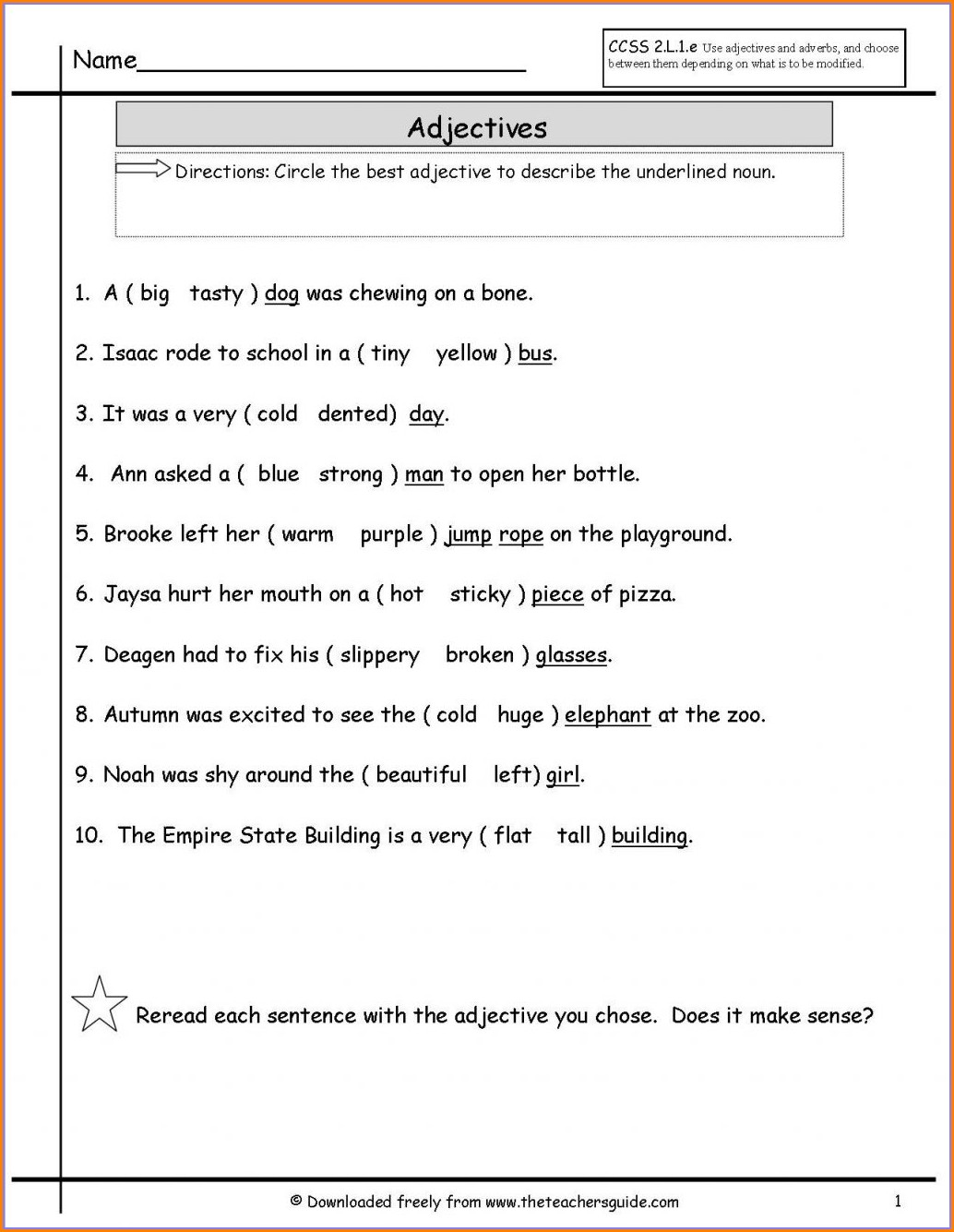 Subject Verb Agreement Worksheet Second Grade