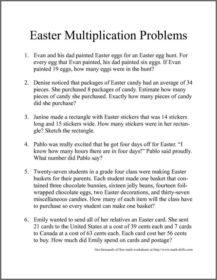 Systems Of Equations Word Problems 8th Grade Worksheet