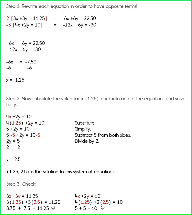 Systems Of Equations Word Problems Using Graphing