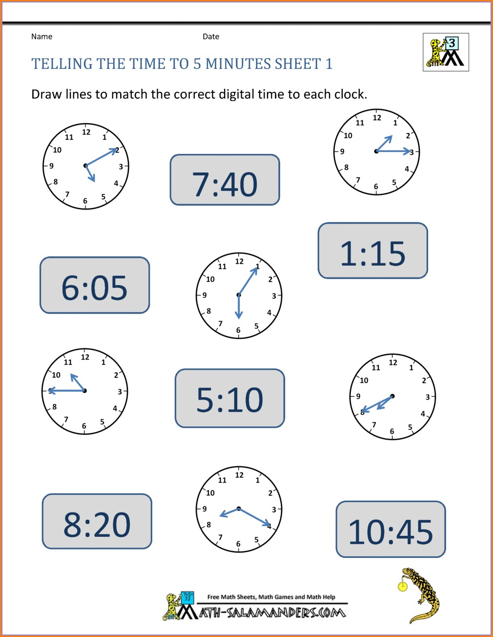 Teaching Time Duration Worksheets