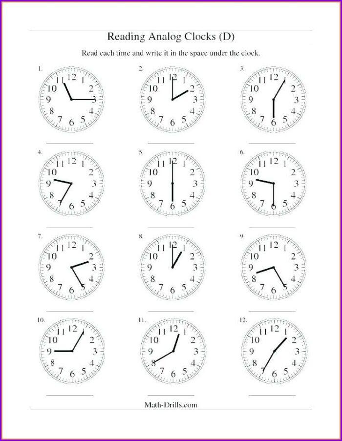 Telling Time Digital Clock Worksheets