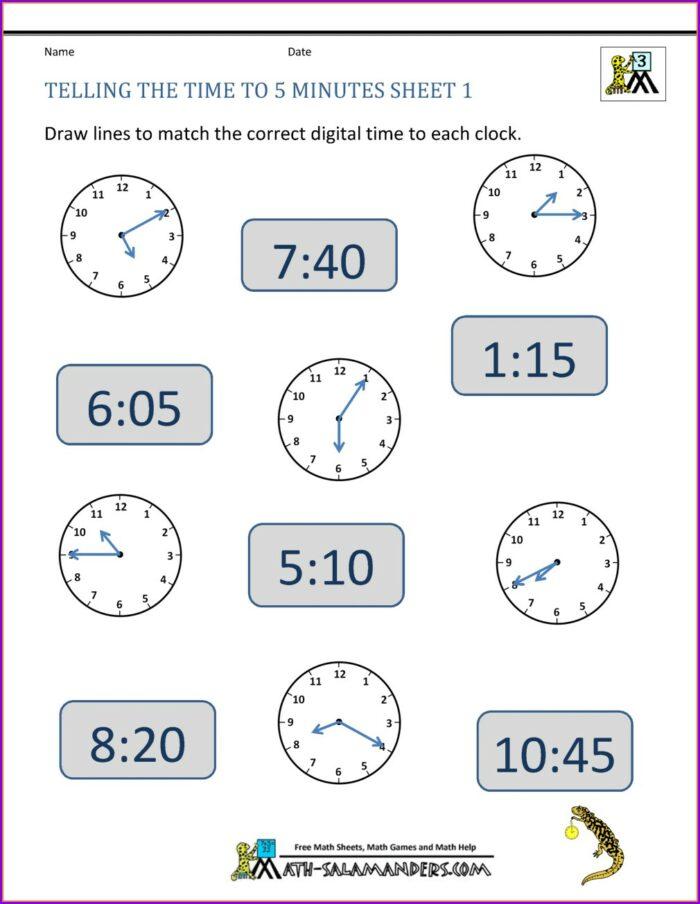 Telling Time Worksheets Digital And Analog Clocks