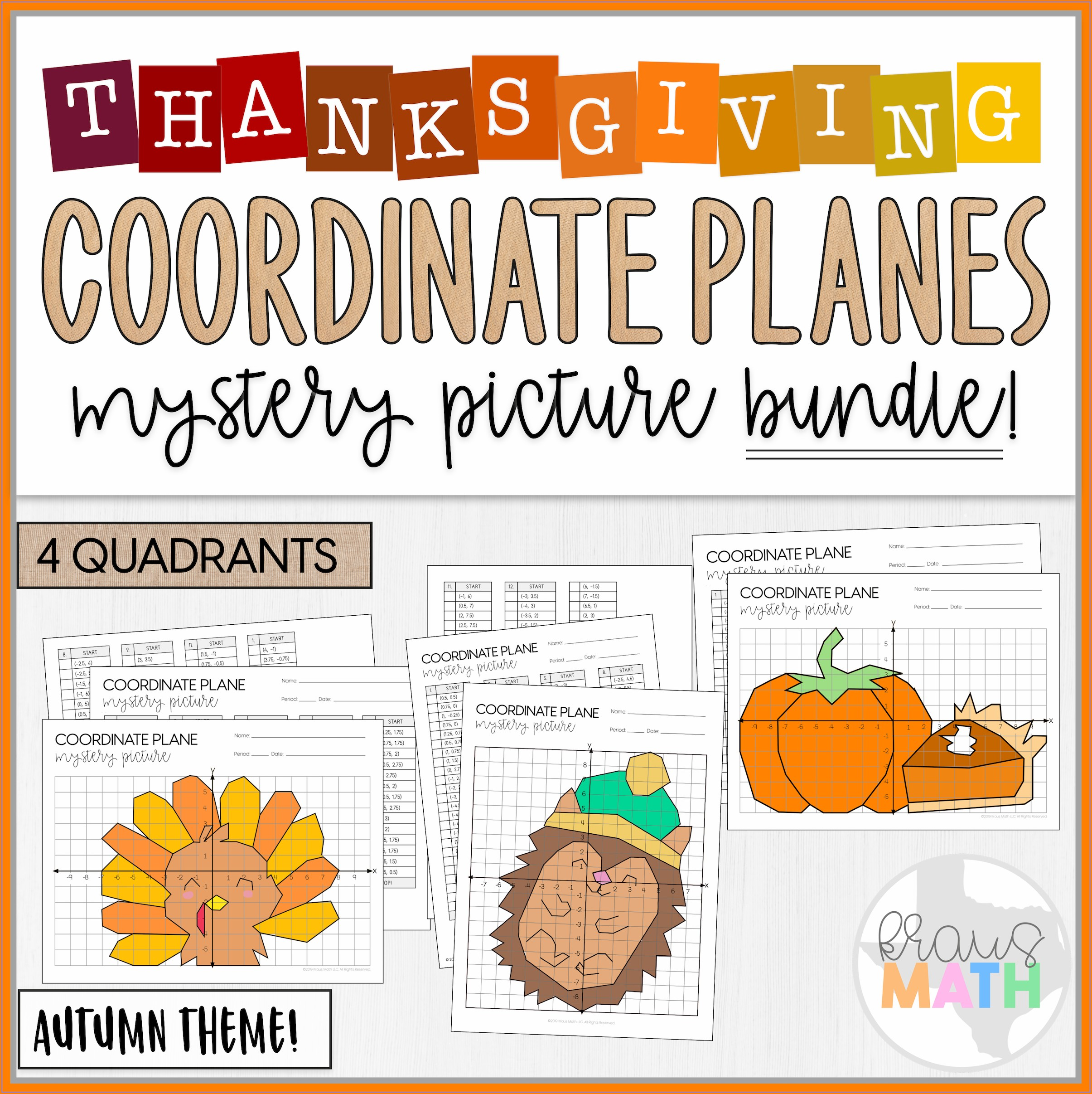 Thanksgiving Math Worksheets Graphing