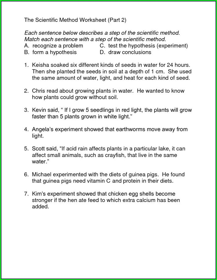 The Scientific Method Worksheet Part 1
