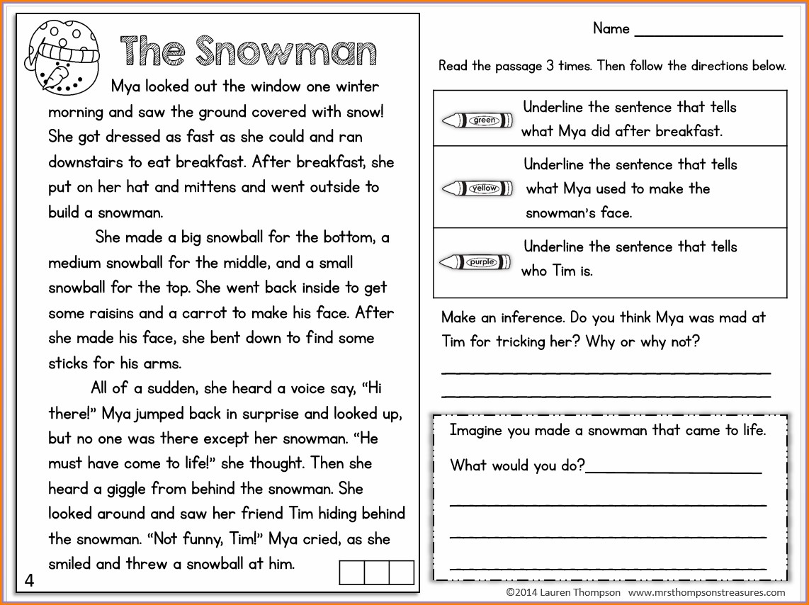 Third Grade Main Idea And Details Worksheets