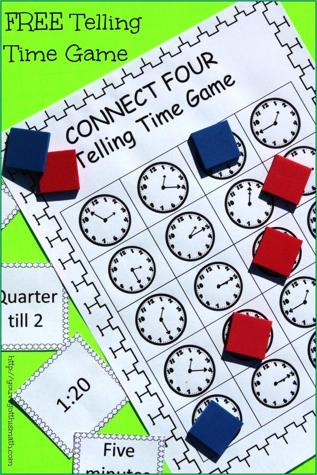Time Game Ks1 Printable