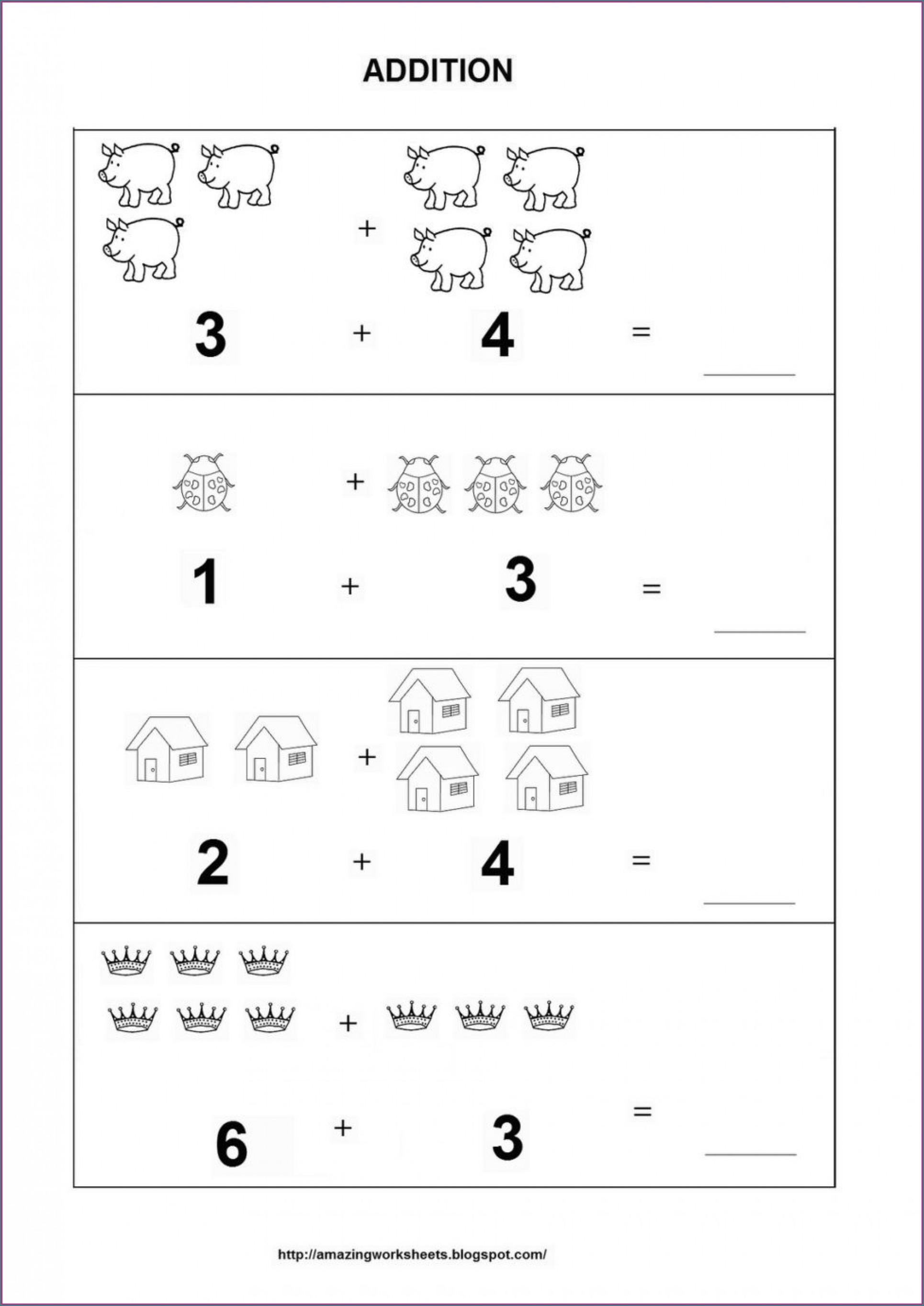 Touch Math Addition Worksheets For Kindergarten