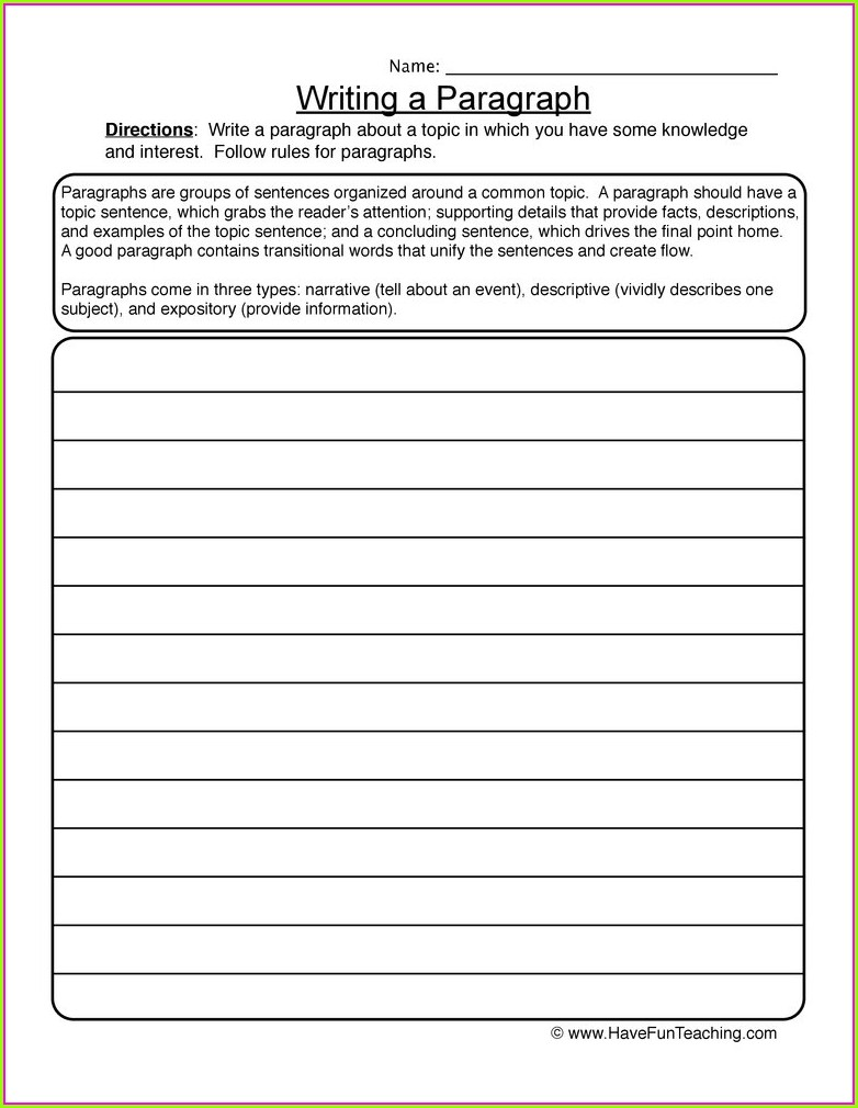 Transitional Words Worksheet 4th Grade