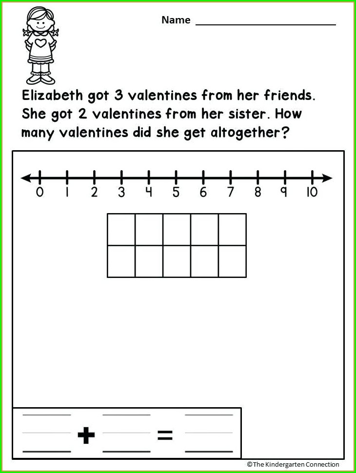 Valentines Day Math Word Problems Worksheet