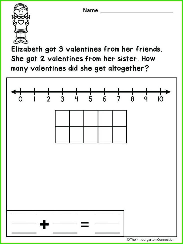 Valentines Day Math Word Problems Worksheet