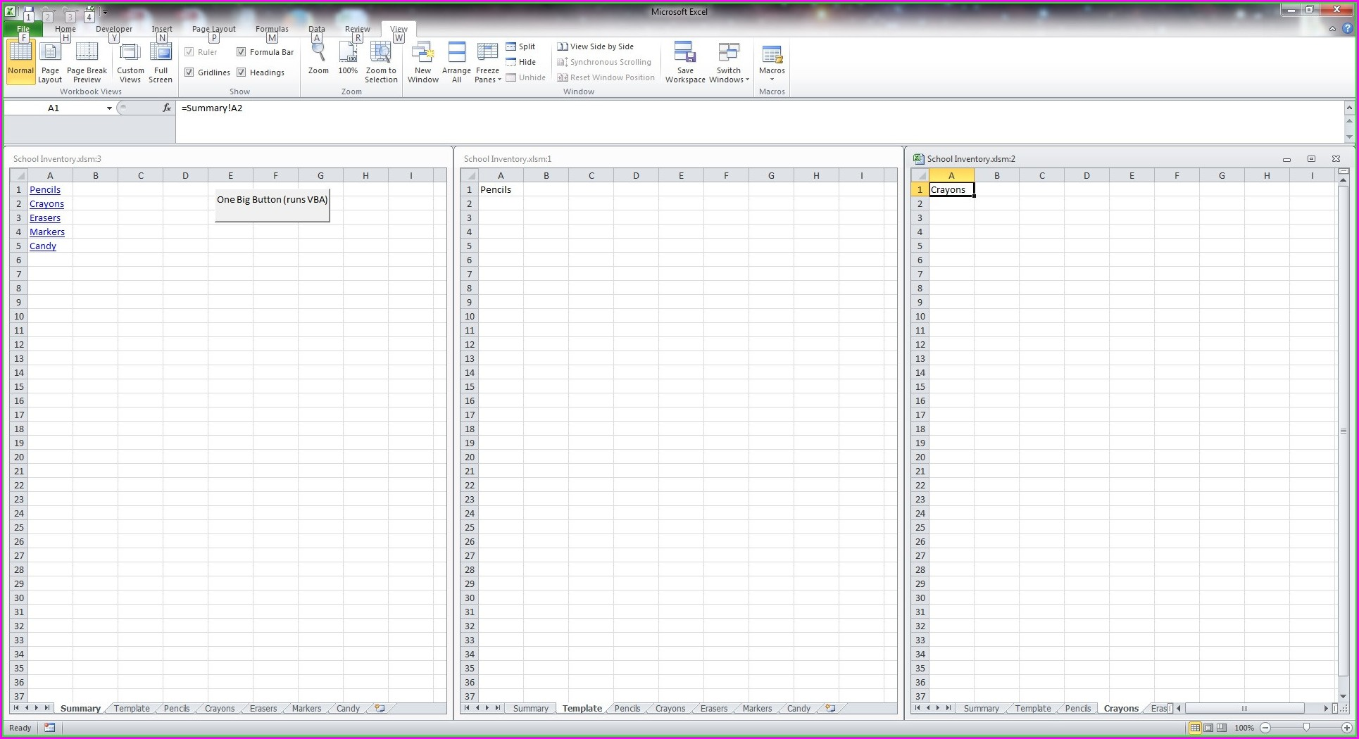 Vba Insert Template Worksheet