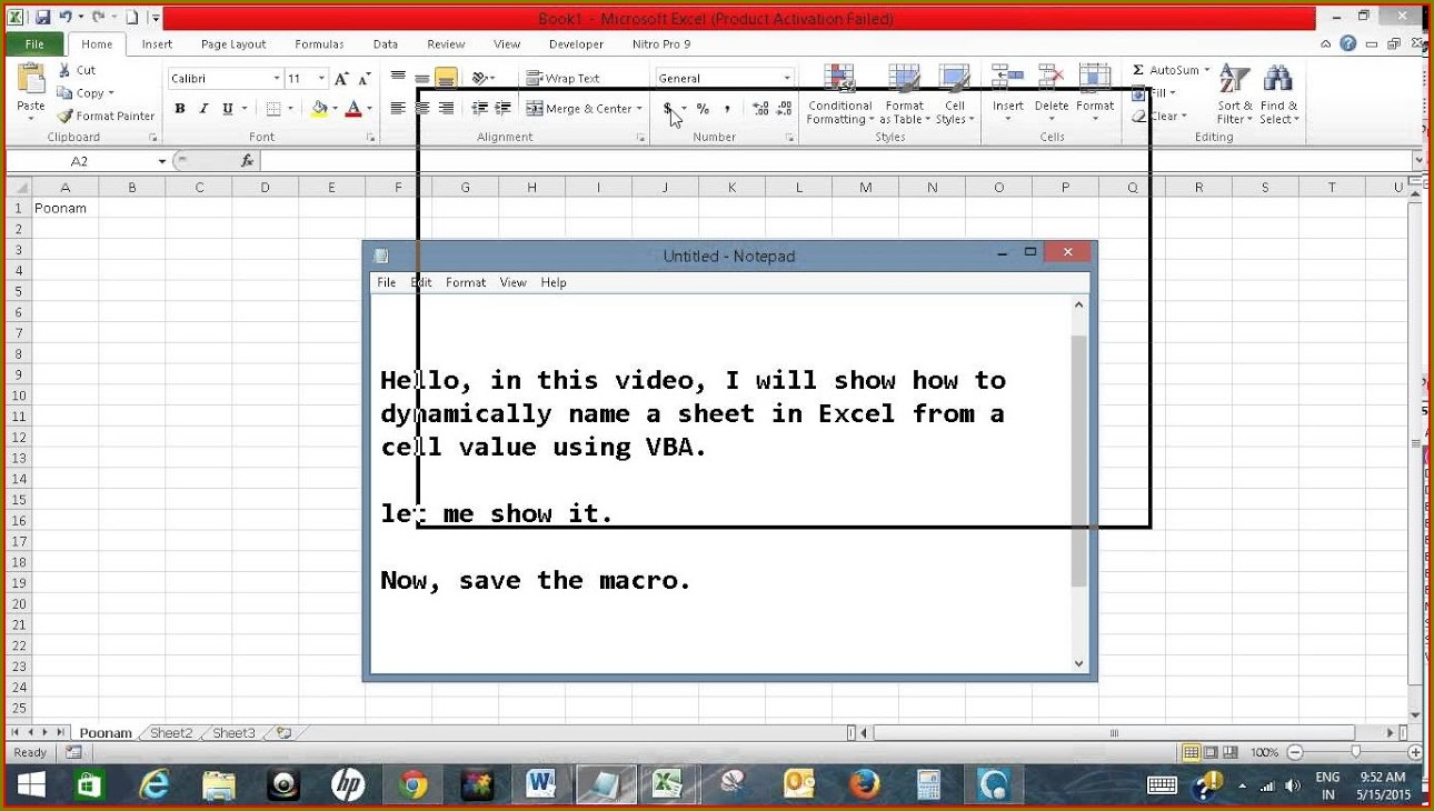 Vba Save Sheet Name As Variable