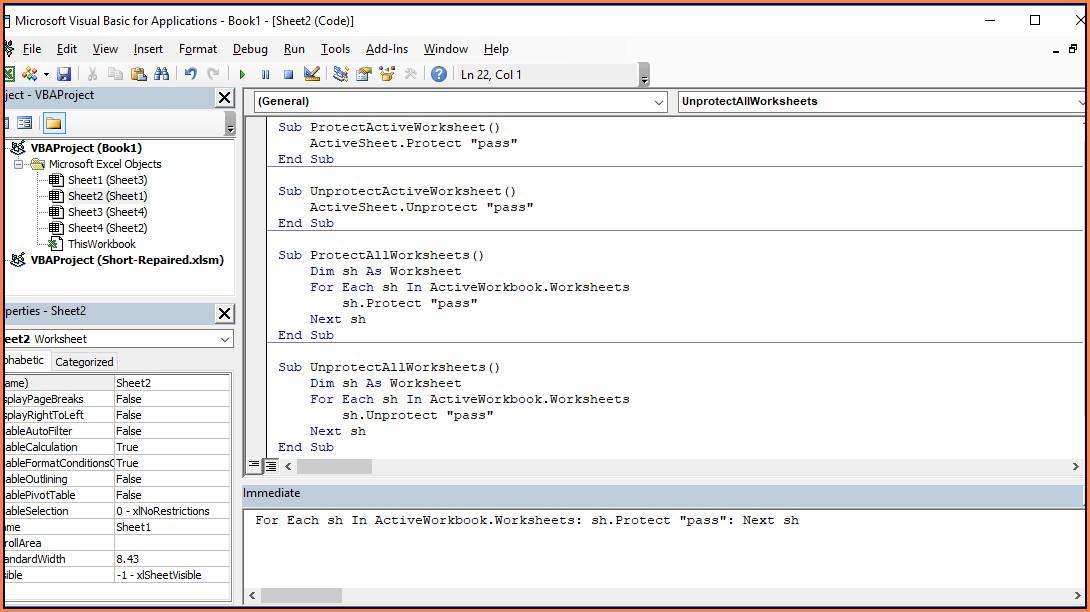 Vba Set Worksheet Password