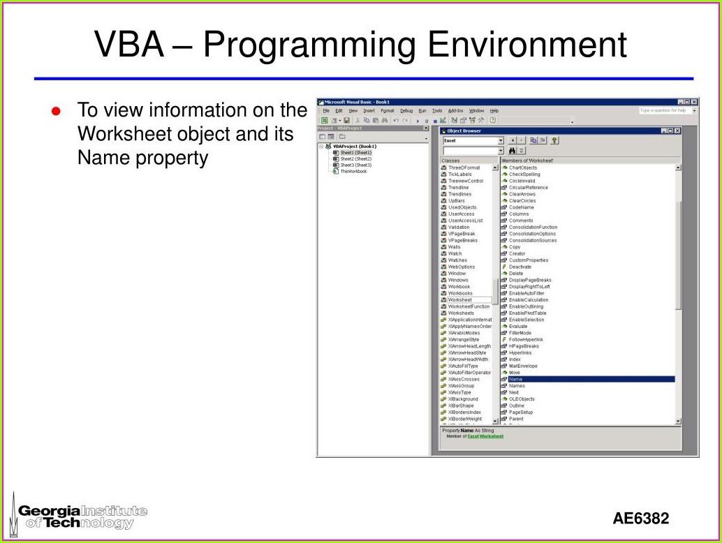 Vba Workbook Name Property