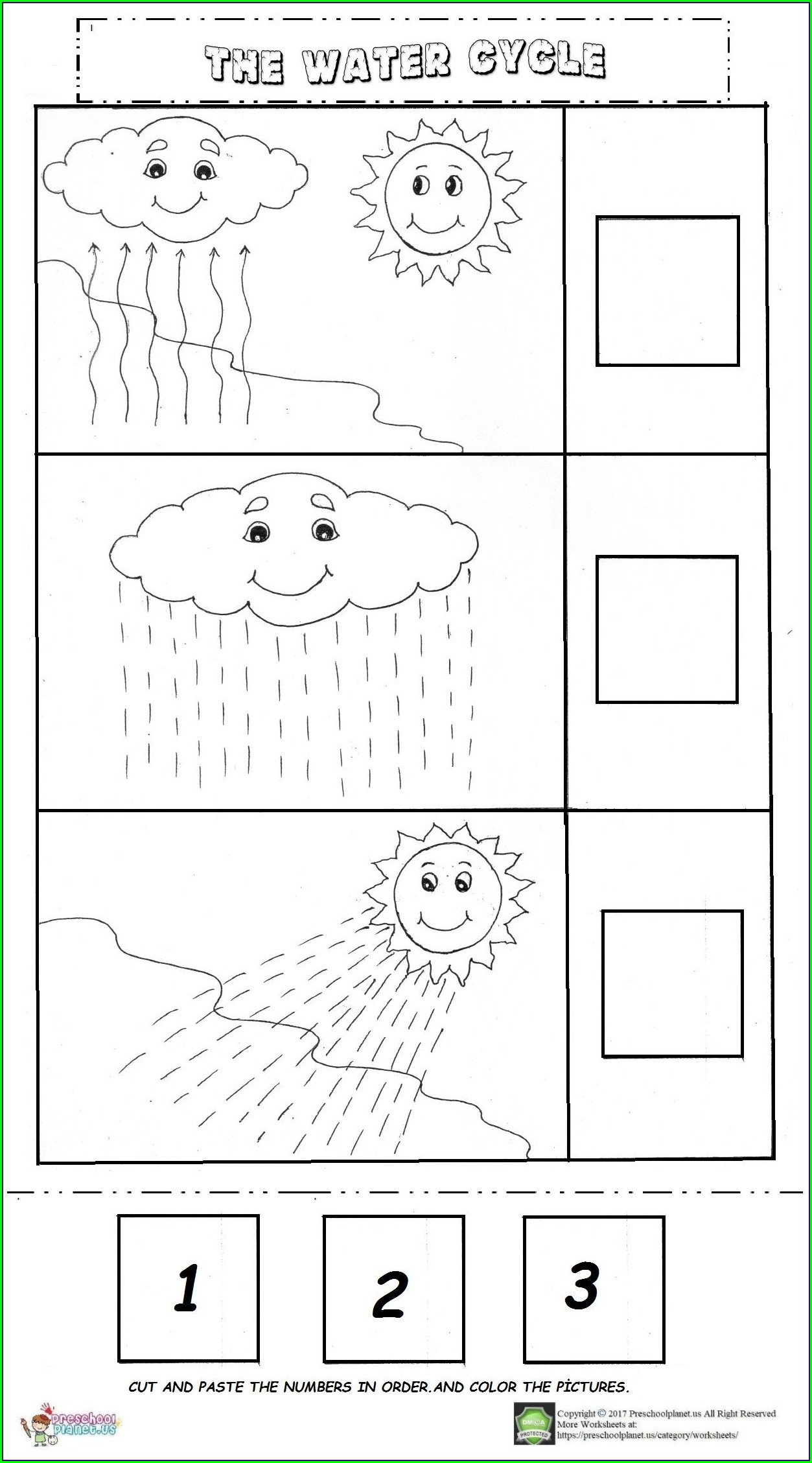 Water Cycle Lesson Easy Worksheets