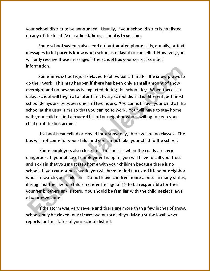What Is A School Worksheet