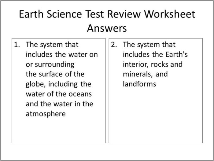 What Is Earth Science Worksheet Answers