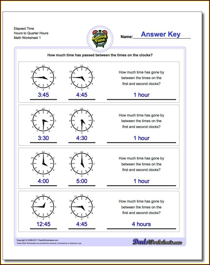 What's The Time Worksheet Pdf