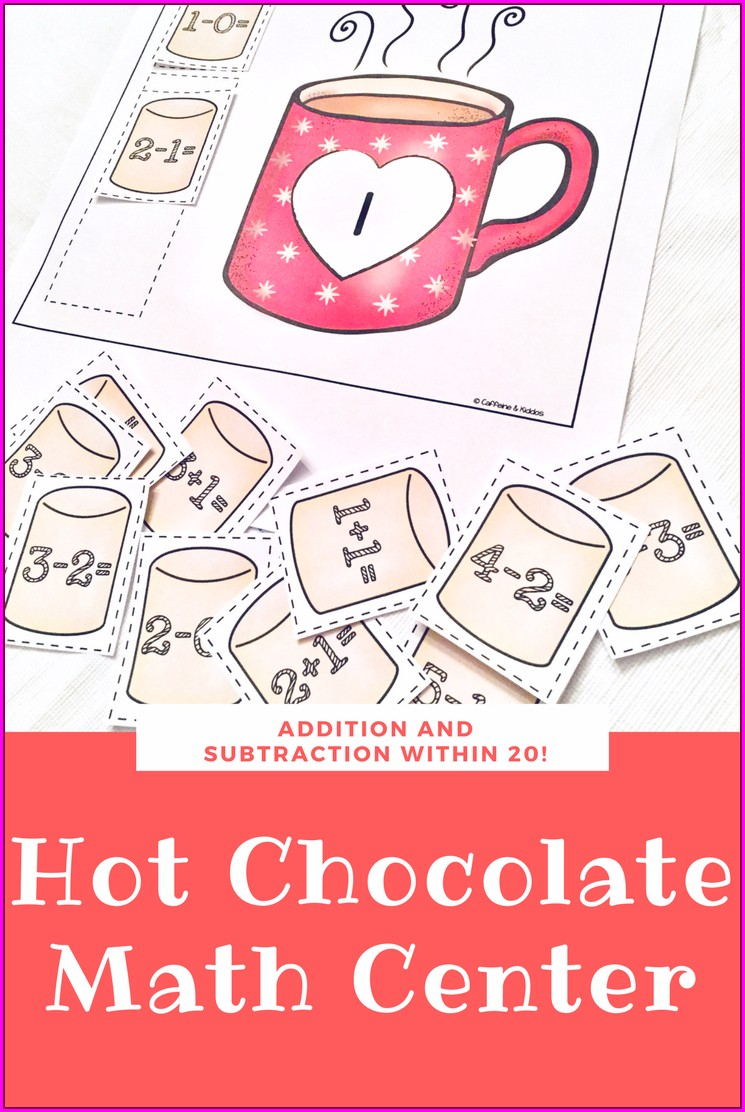 Winter Subtraction Worksheets First Grade