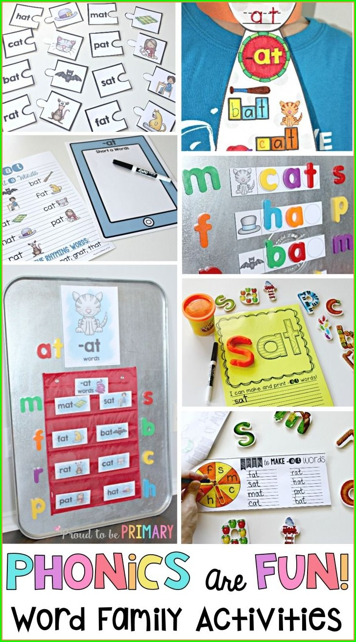 Word Families Teaching Reading