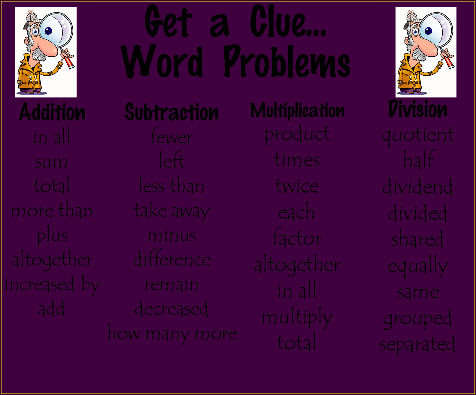 Word Problems Worksheet For Grade 3