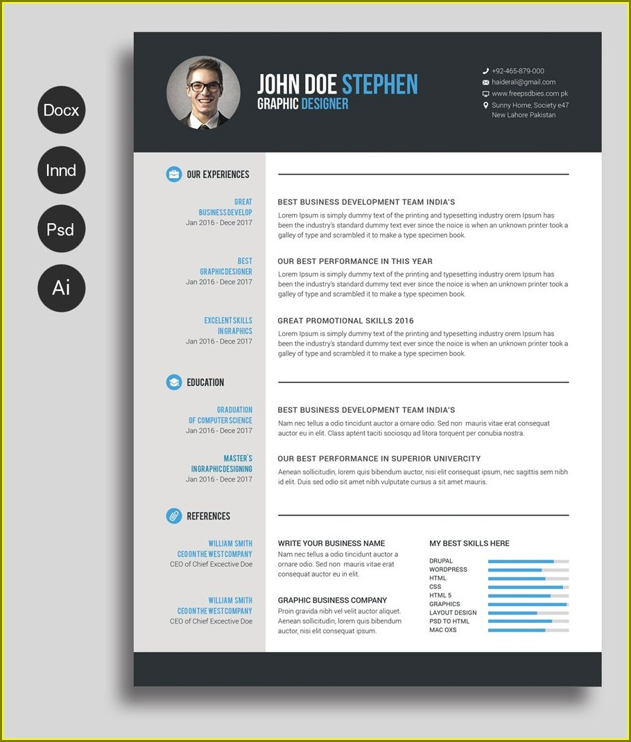 Word Resume Template Mac Free