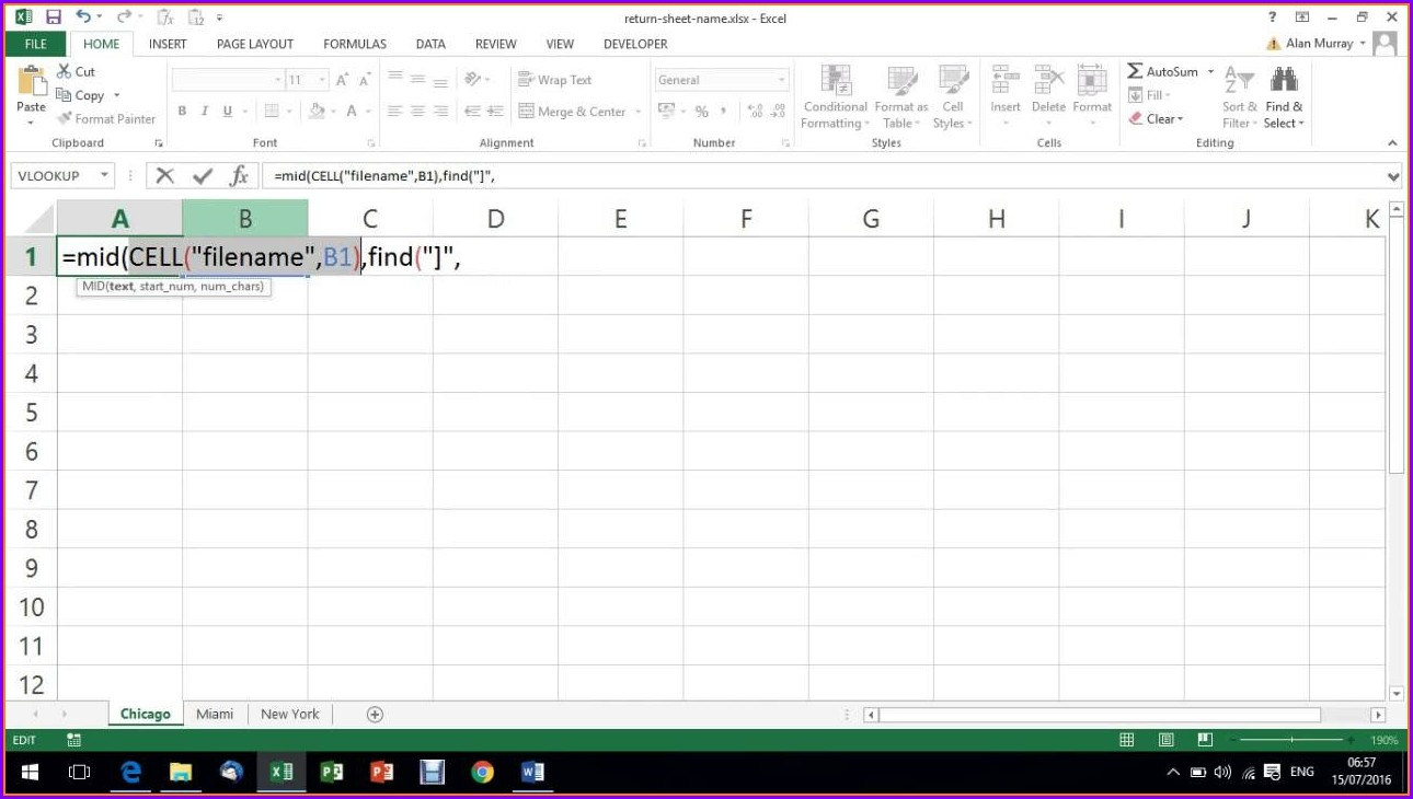 Workbook Name In Excel Formula