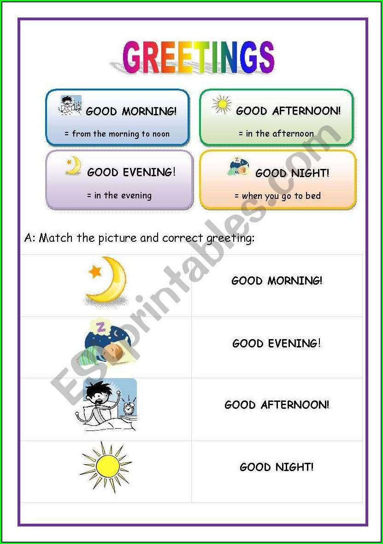 Worksheet English For Beginners