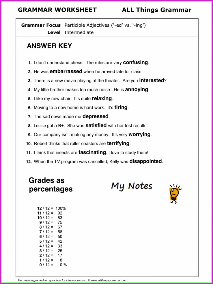 Worksheet For Grade 2 English Grammar