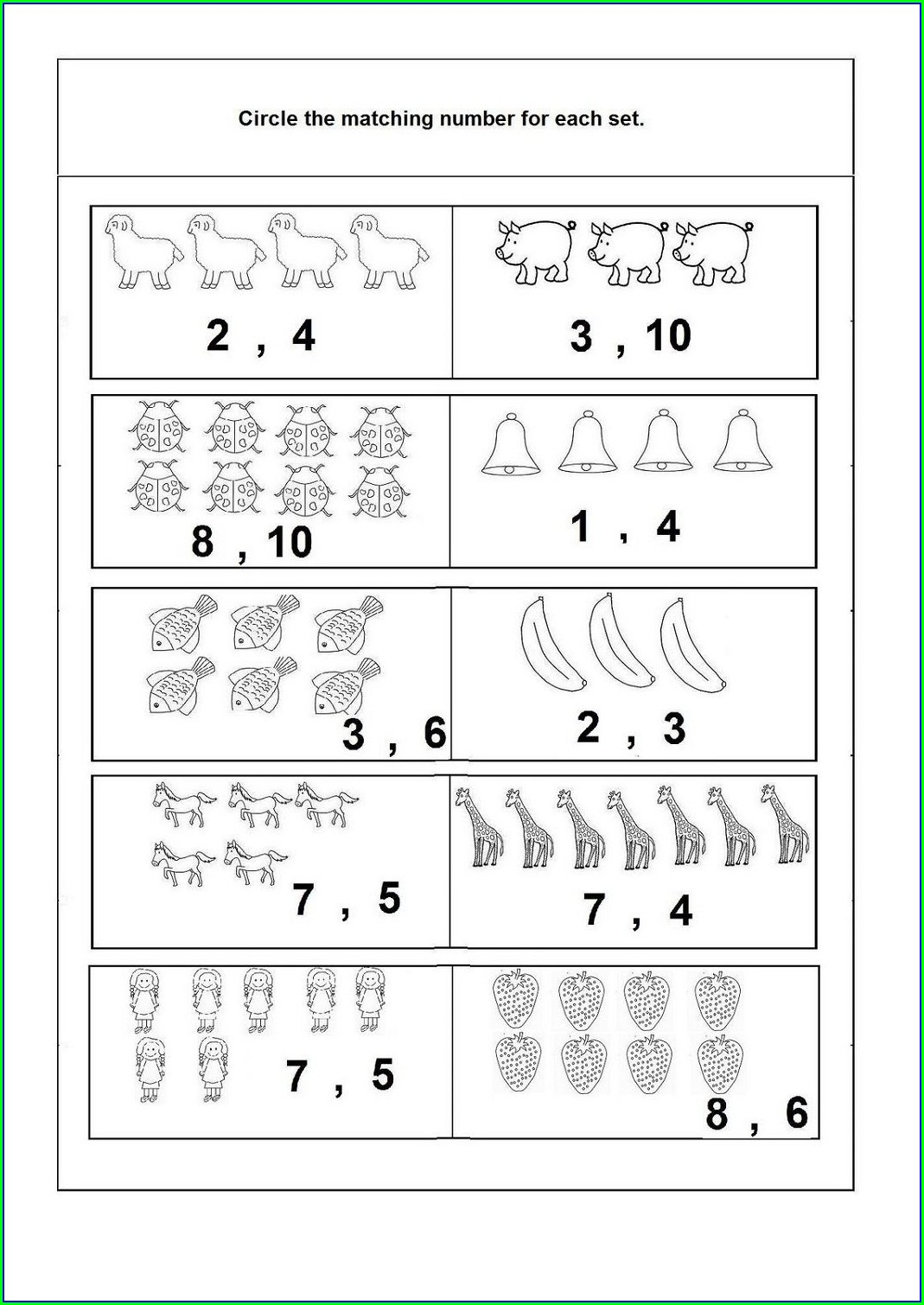 Worksheet For Kindergarten 1